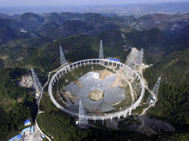 Evacúan a más de 9.000 personas para construir el radiotelescopio chino FAST