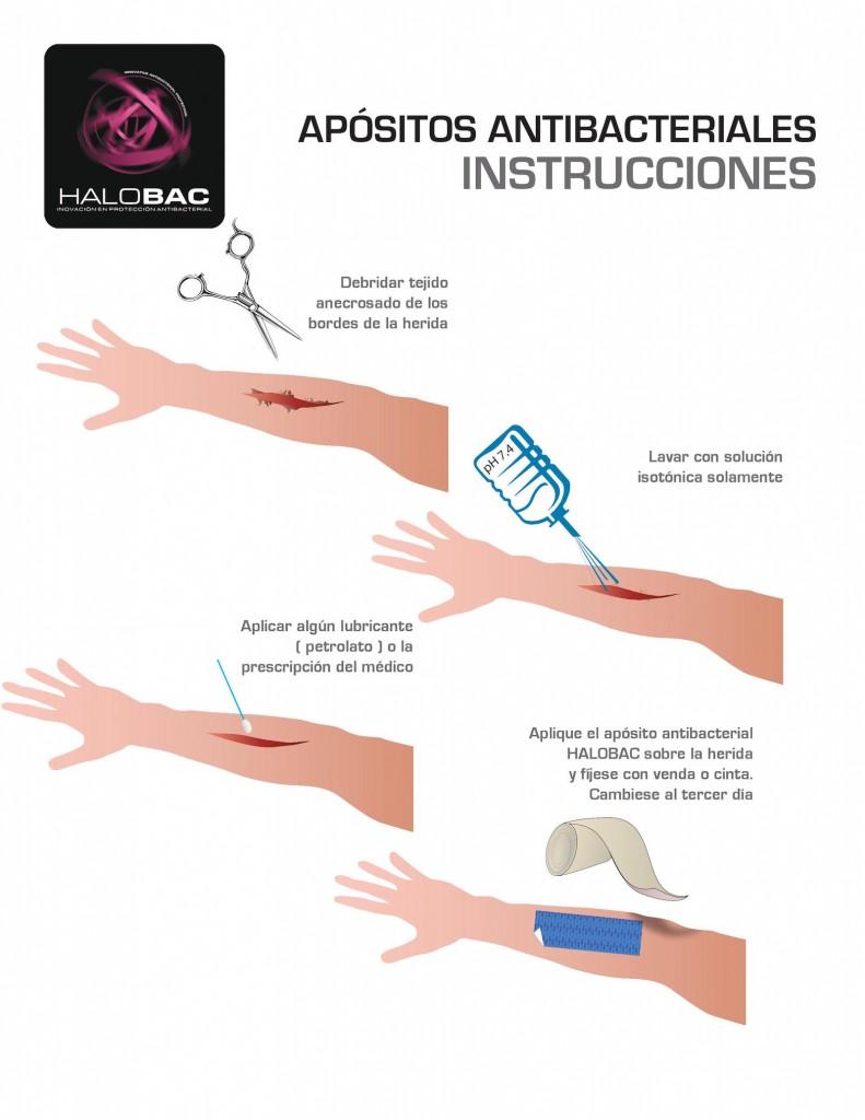 Instructivo para aplicación de apósitos antibacteriales