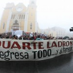 Marcha de la UV en Xalapa, Duarte ladrón- Foto Tony Palacios