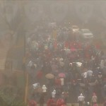 Marcha en Xalapa a las 11-46, entre niebla- C4