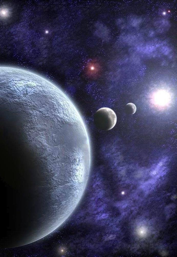 Sizigia alineación de planetas frente al Sol