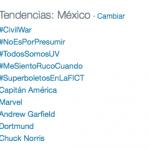 Tendencias México 10 de marzo
