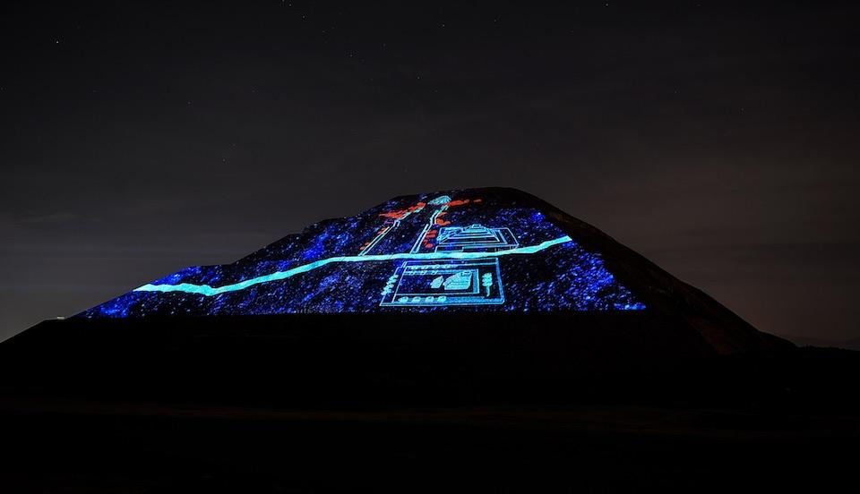 Teotihuacán, iluminación nocturna 12- JulioHDez