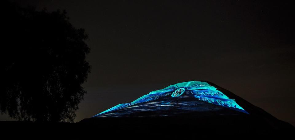 Teotihuacán, iluminación nocturna 5