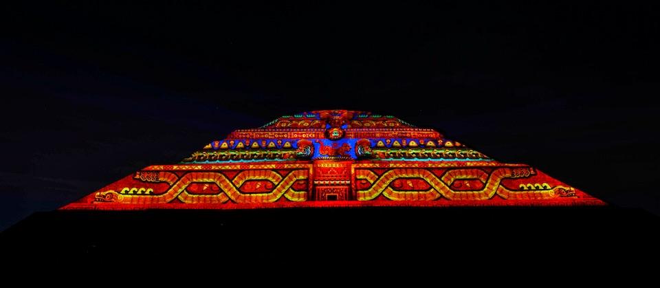 Teotihuacán, iluminación nocturna 8- Rocio Necoechea