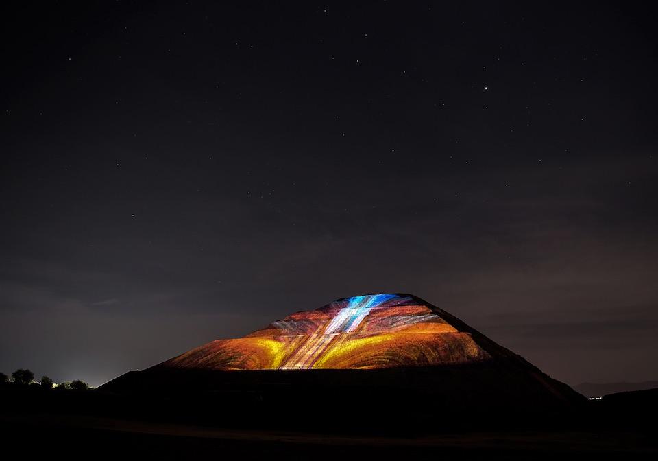 Teotihuacán, iluminación nocturna- JulioHdez