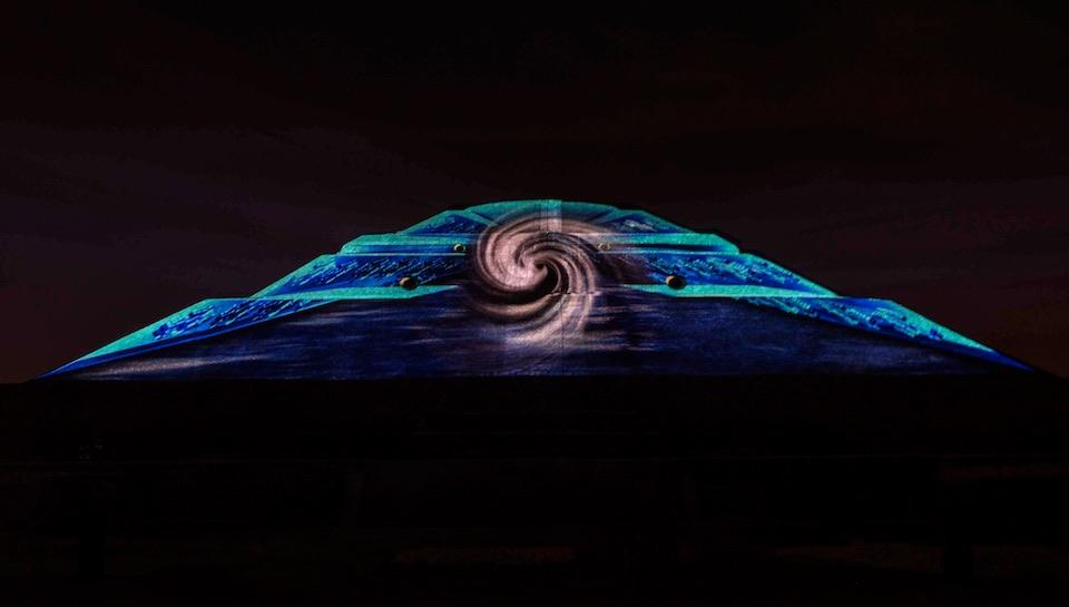 Teotihuacán, iluminación nocturna, Rocio-Necoechea