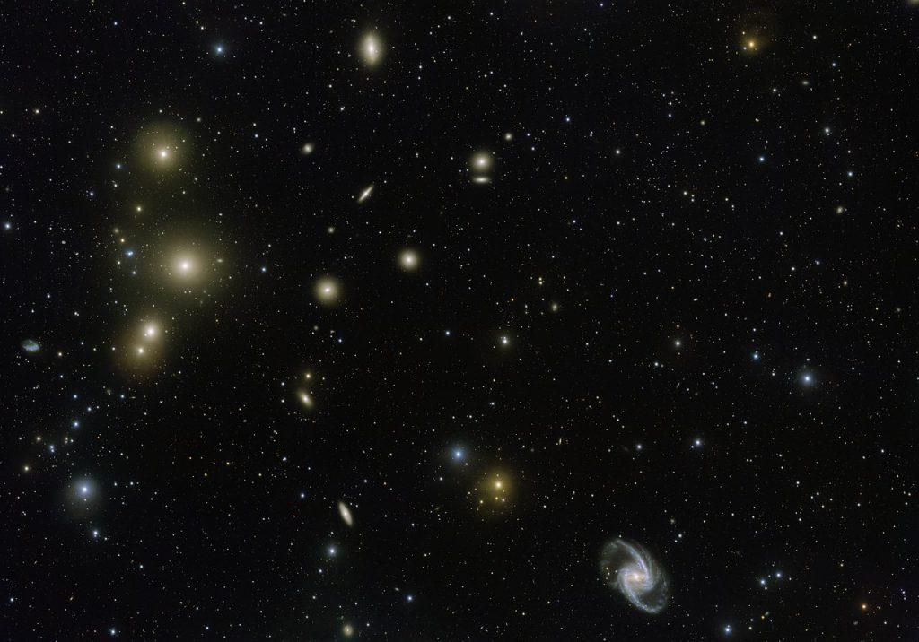 Cúmulo de Fornax, galaxias de todas las formas y tamaños- ESO