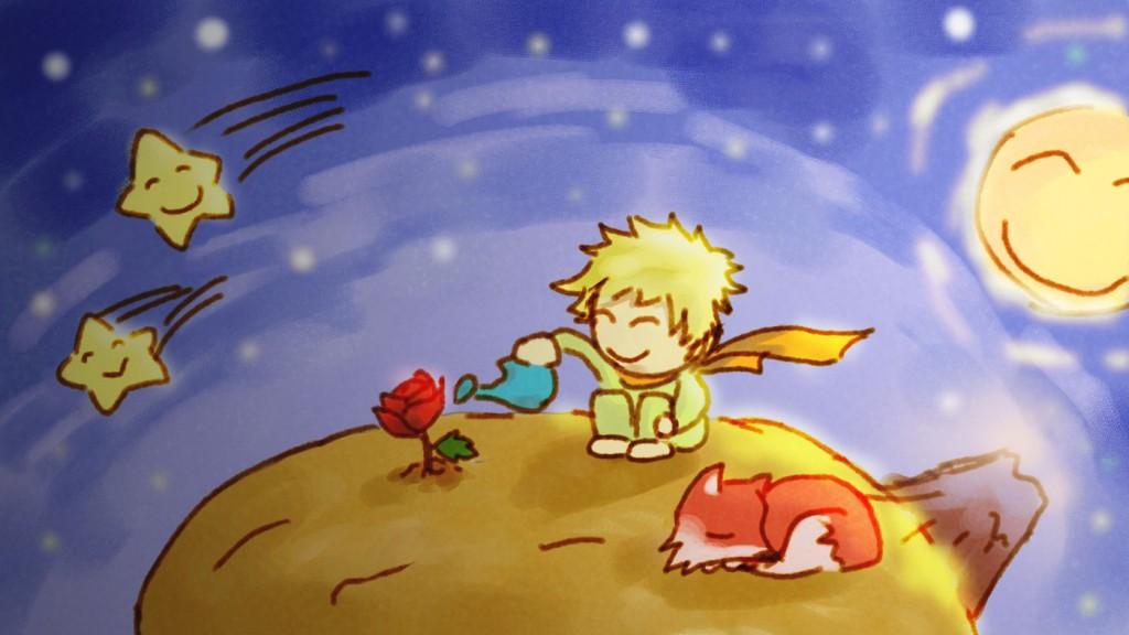 El Principito, la rosa y el zorro