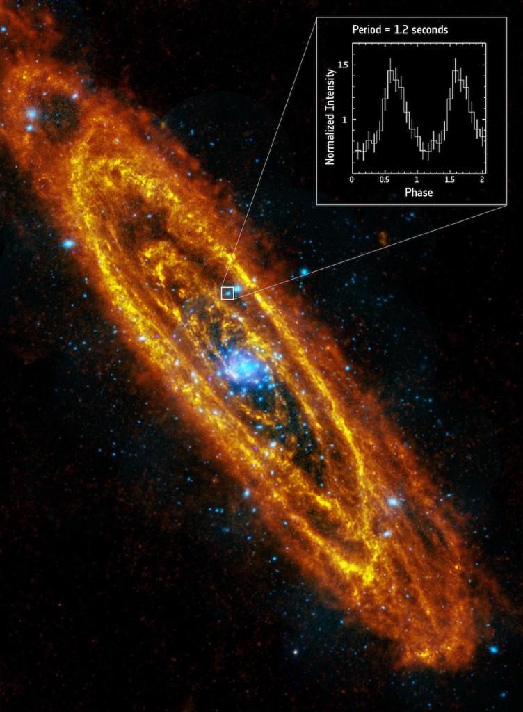 Estrella de netrones localizada en Andrómeda- ESA, Herschel