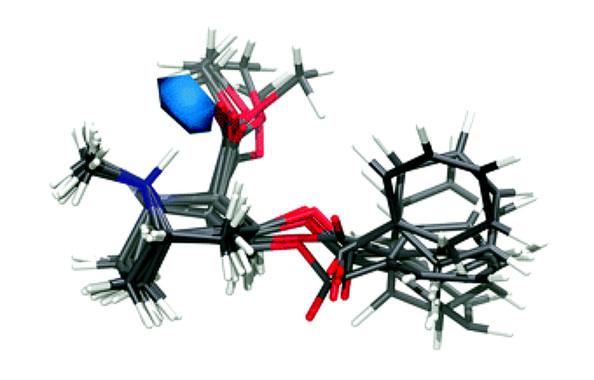 Estructura atómica de la molécula de cocaína en solución acuosa. / Andrew J. Johnston et al./Univ. Oxford/UPC