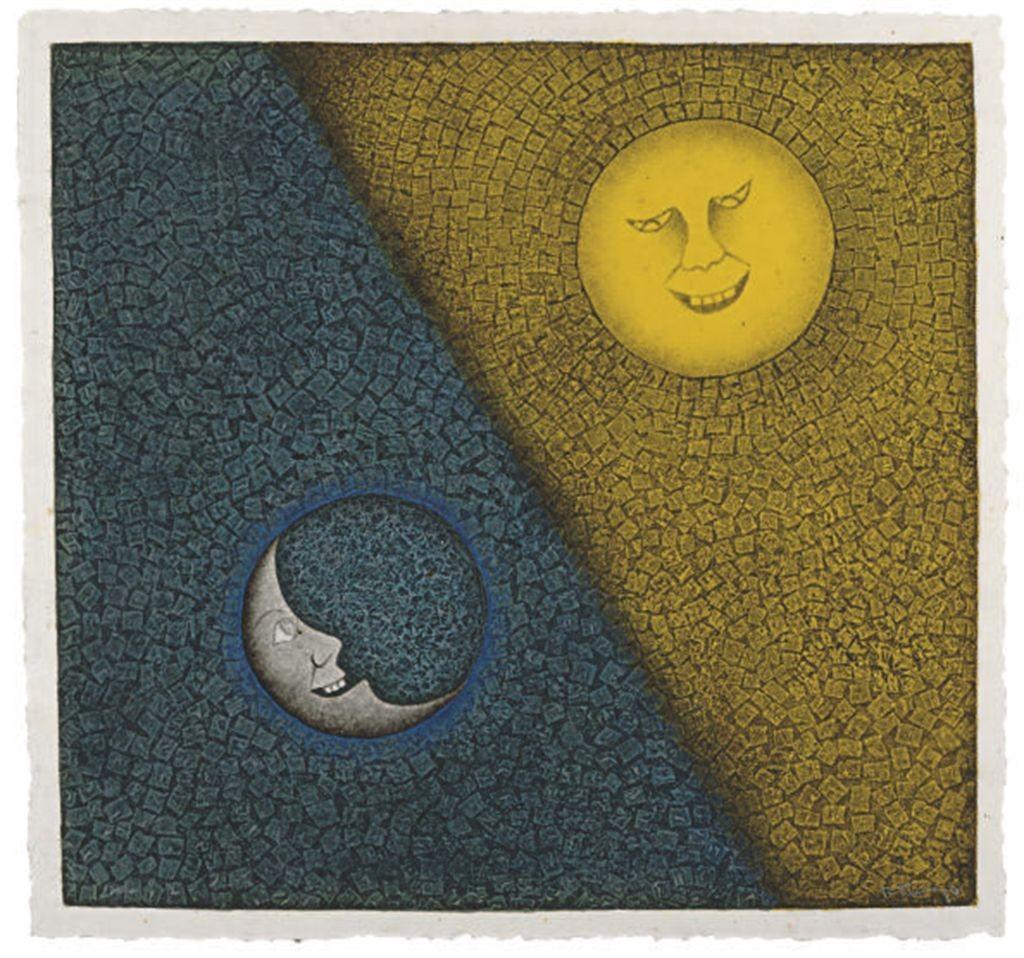 Luna y Sol, Rufino Tamayo, 1956