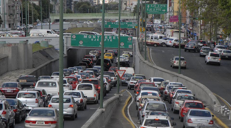 Tráfico vehicular en la Ciudad de México