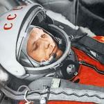 Yuri Gagarin en su traje espacial