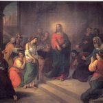 El redentor y la mujer adúltera, Juan Cordero, 1853