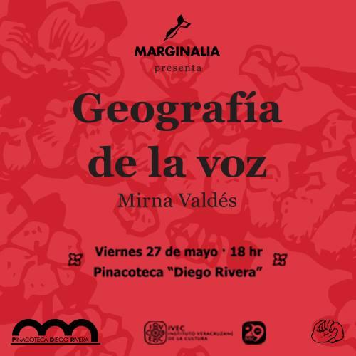 """""""Geografía de la voz"""", Poemario de Mirna Valdés, presentación 27 de mayo"""