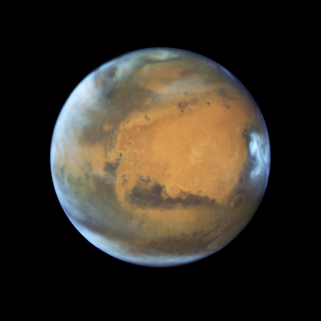 Marte fotografiado por el Telescopio Espacial Hubble el 12 de Mayo de 2016- NASA ,ESA, Hubble