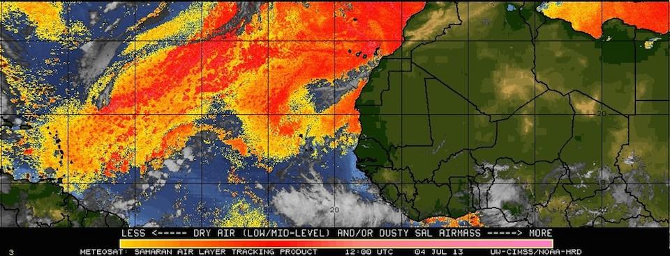Cómo influye el polvo del Sáhara hallado en el Atlántico en el cambio climático
