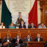 Atestiguan diputados promulgación de reforma que retira fuero al Ejecutivo Estatal