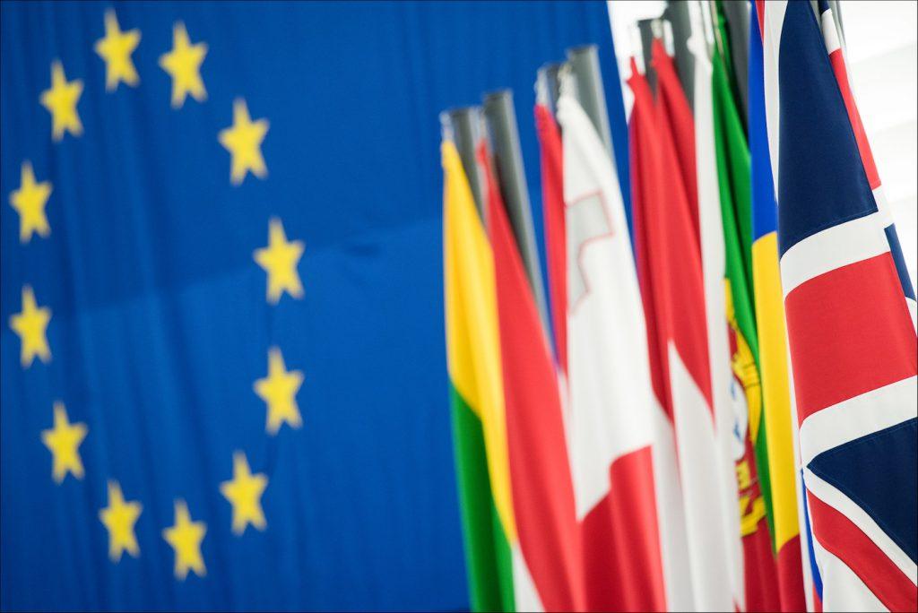 La bandera británica como parte de la Unión Europea