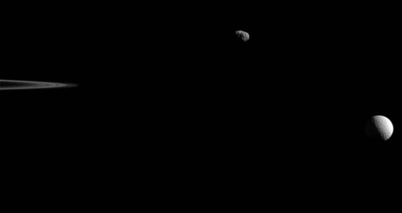 Las lunas de Saturno en formación