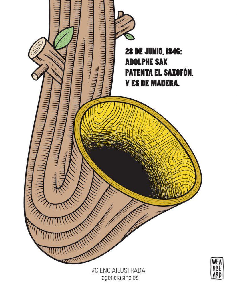 La patente del saxofón