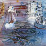 Puerto con velero, Homenaje a Claudio de Lorena, Raoul Dufy, 1935- Musée d'Art Moderne de la Ville de Paris, París