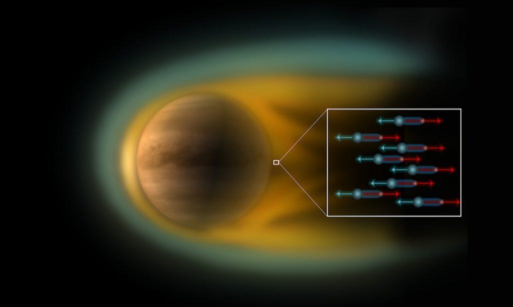 Campo eléctrico en Venus- ESA, C Carreau