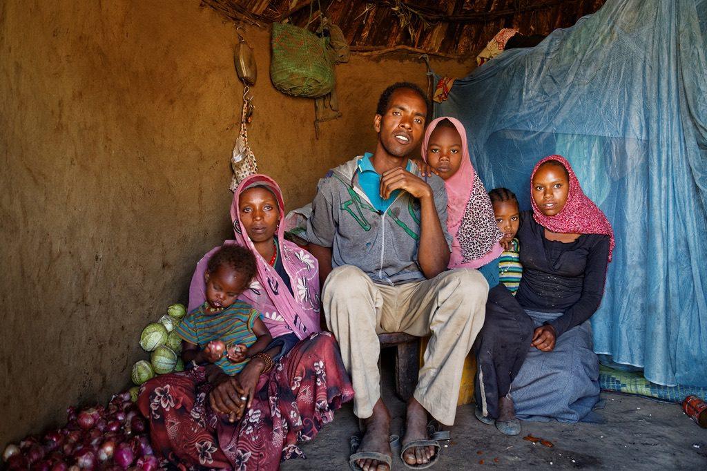 Familia en pobreza extrema- foto ONU