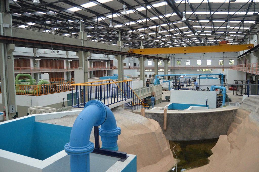 Laboratorio de Hidráulica Enzo Levi, donde se elaboran algunos de los modelos físicos a escala más importantes de las obras hidráulicas de México