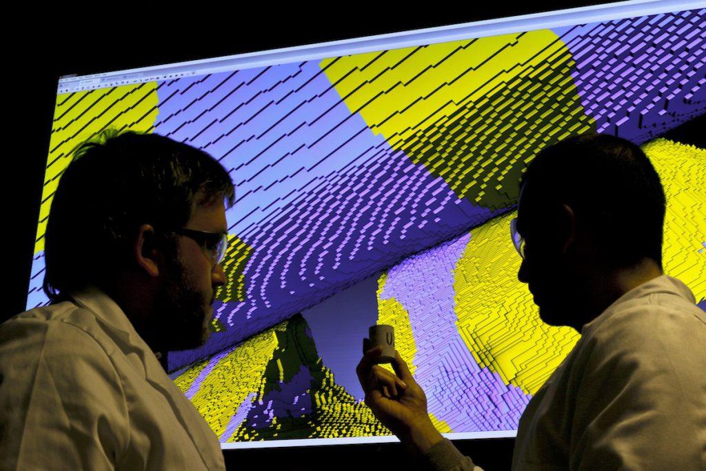 Investigadores del laboratorio de petrofísica digital- Repsol