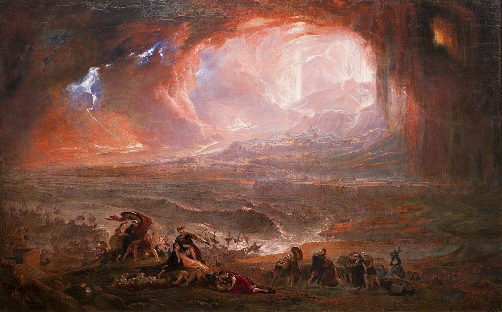 La destrución de Pompeya y Herculano (restaurada)- John Martin, Tate Modern, Londres
