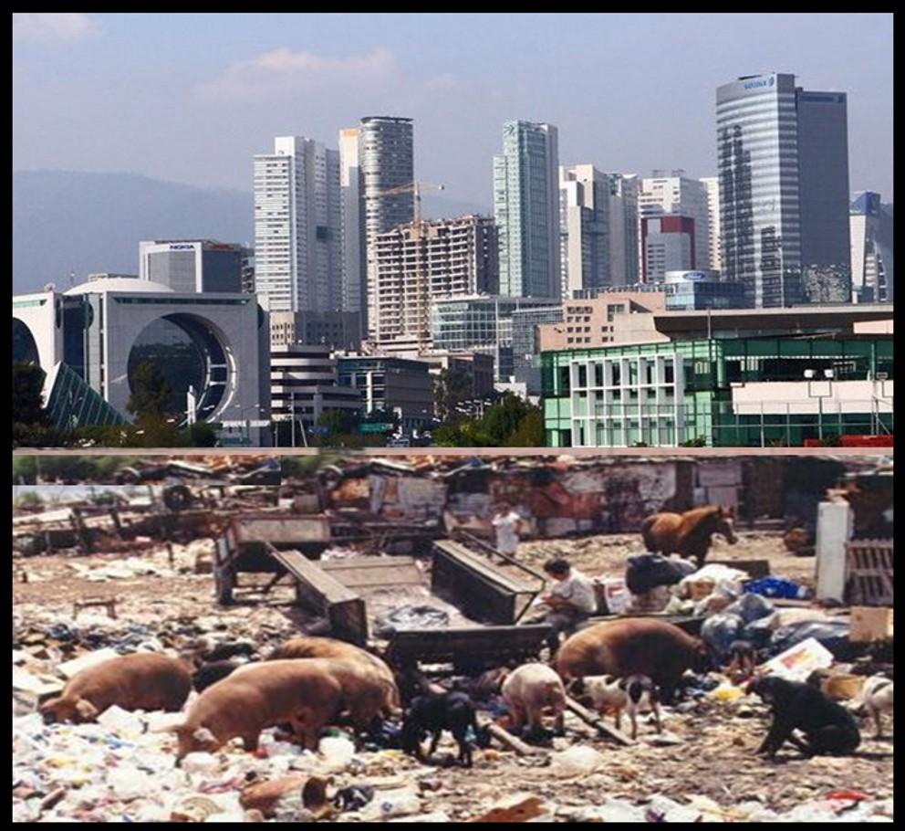 Las diferencias urbanas, Santa Fé, Ciudad de México