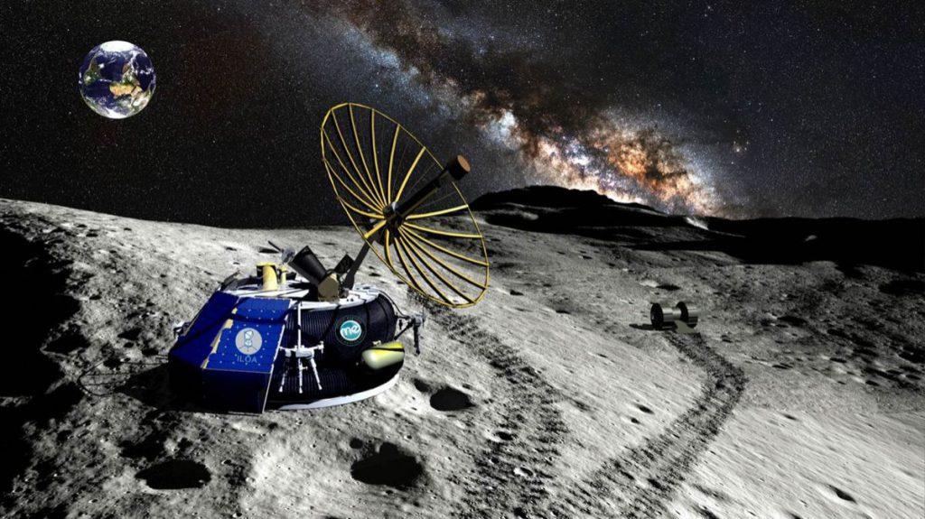 Recreación artística de la misión de Moon Express. / MOON EXPRESS