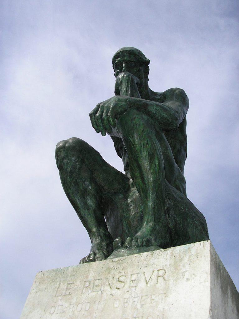 El Pensador, de Augusto Rodin, foto de Adrían Arellano (Zahualli)