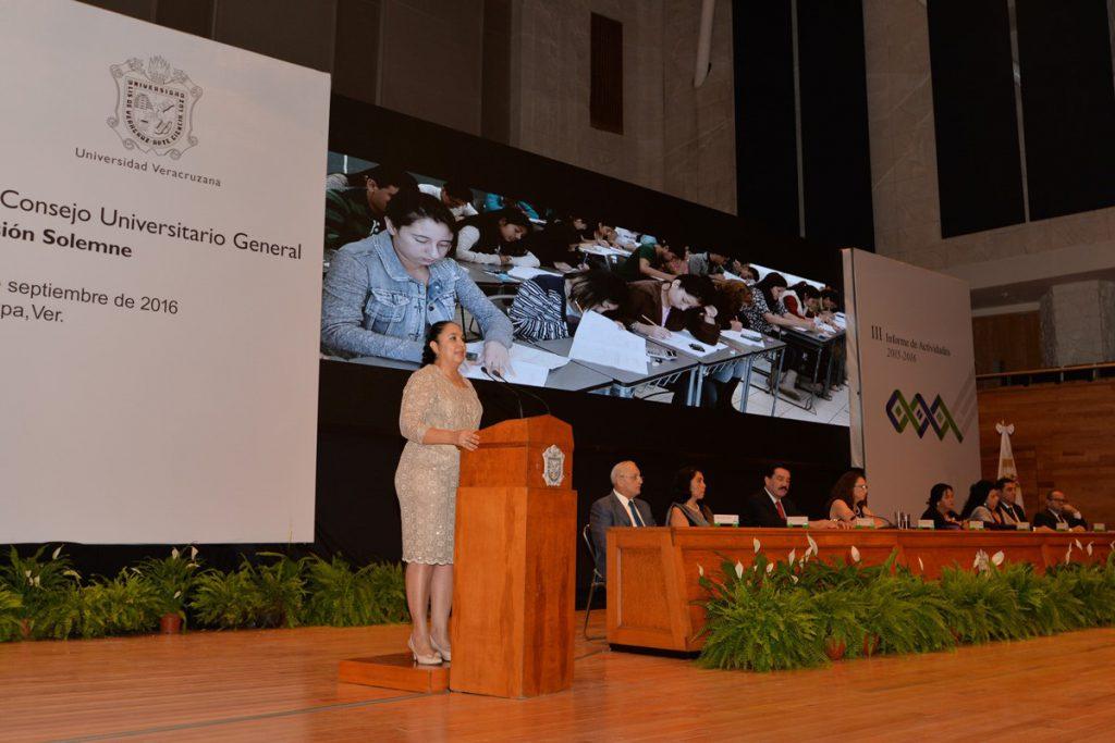 Tercer Informe de Sara Ladrón de Guevara, Rectora de la Universidad Veracruzana