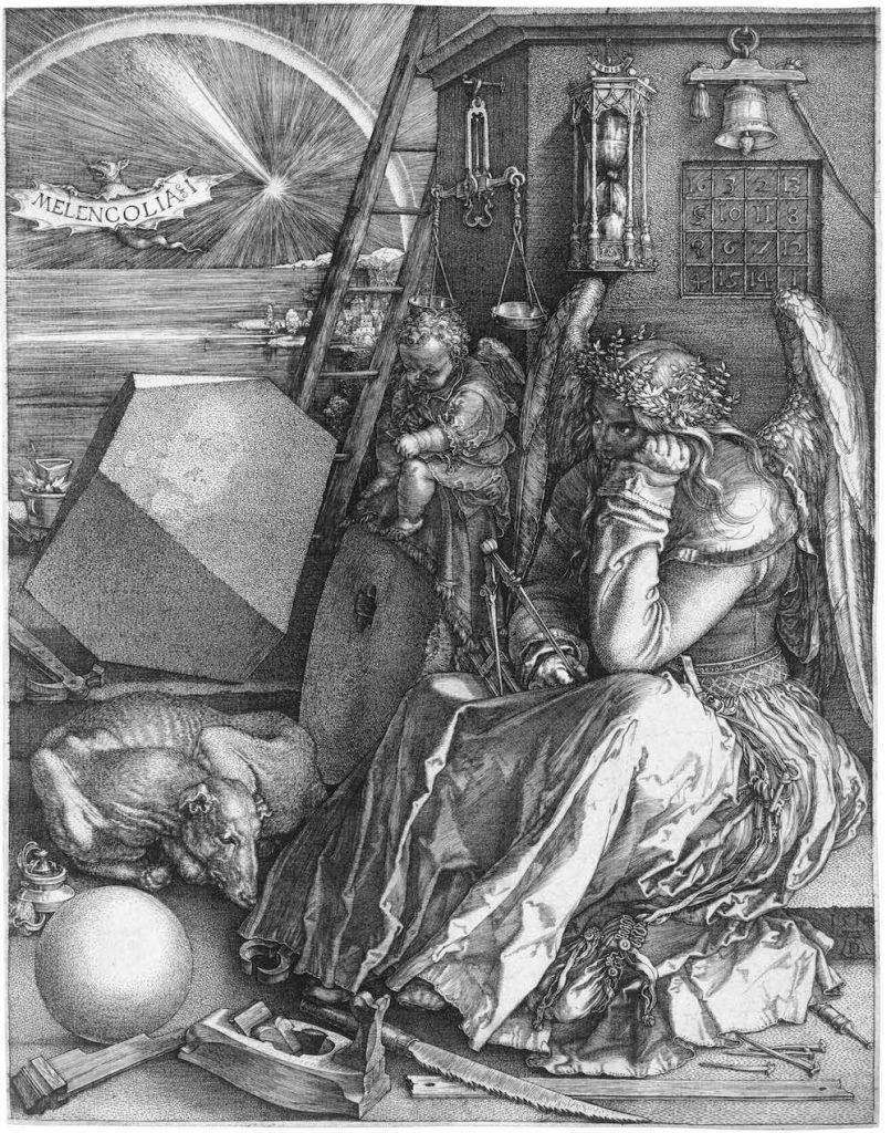 Melencolia I , Alberto Durero, 1514- Galería Nacional de Arte de Karlsruhe, Karlsruhe