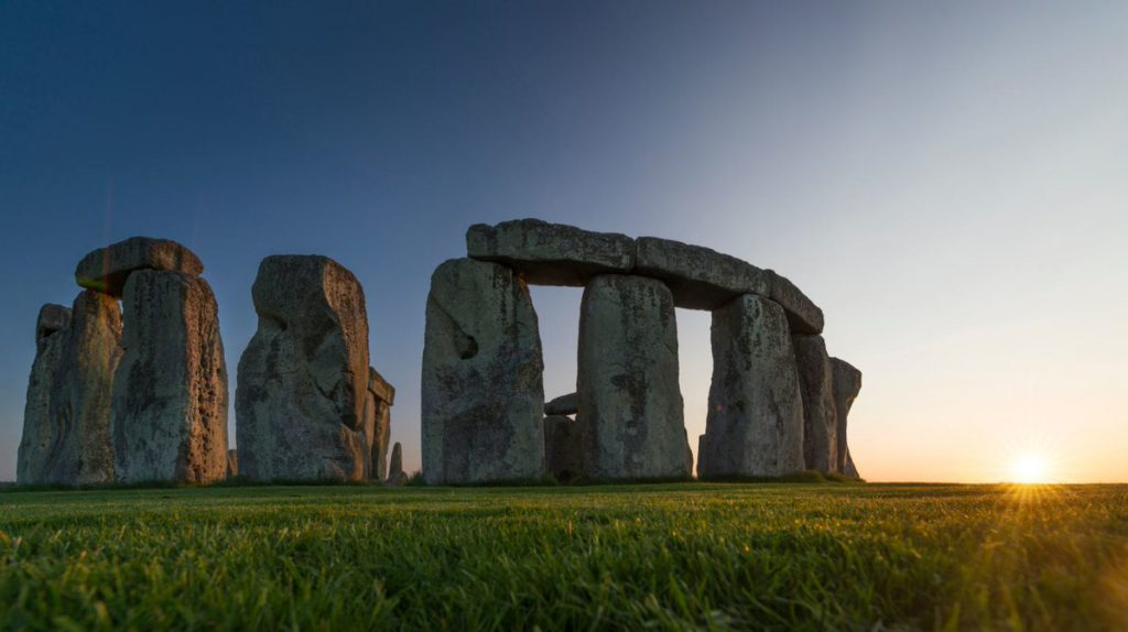 Stonehenge, puesta de sol