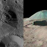 La sonda Dawn detecta un volcán de hielo y agua en el planeta enano Ceres