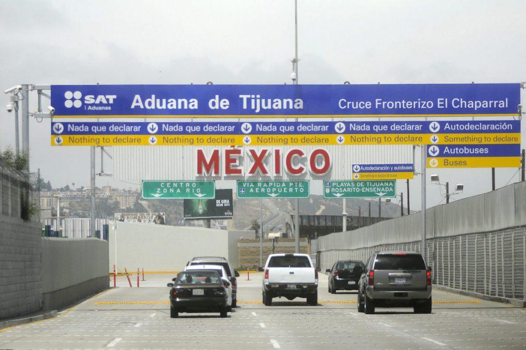 Aduana de Tijuana, frontera México-EEUU