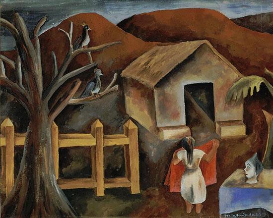 El mantel rojo, María Izquierdo, 1940- Colección Blaisten