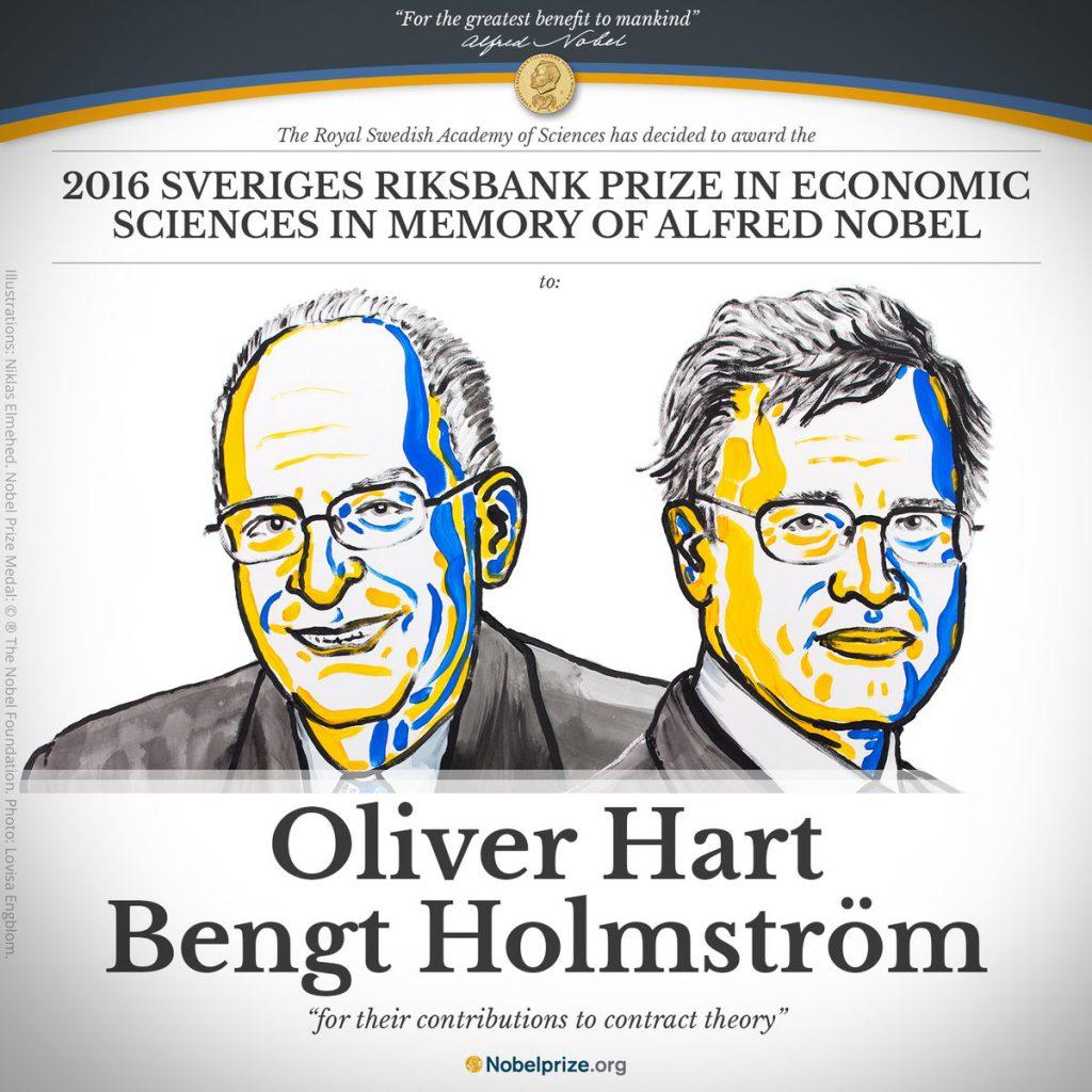 Oliver Hart y Bengt Holmström, Premio Nobel de Economía en 2016
