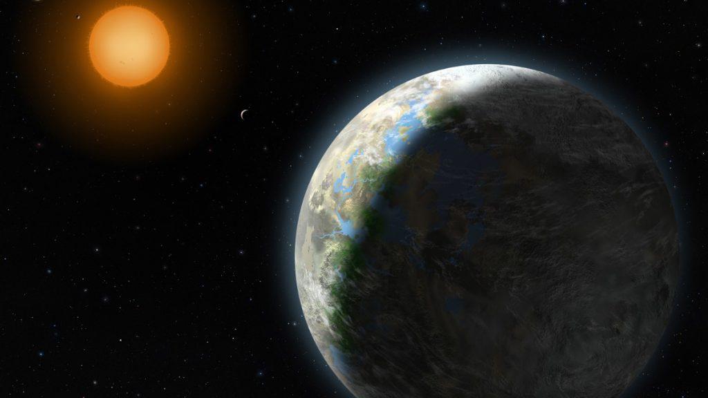 Ricitos de Oro, planeta extrasolar Gliese 581- Ilustración Lynette Cook