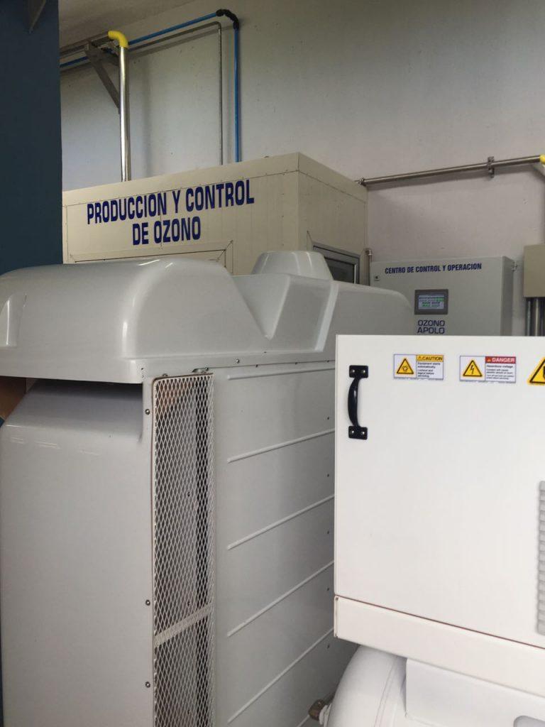 Sistema de ozonización para aguas residuales