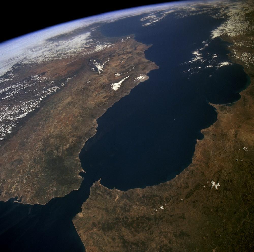 Una fotografía satélite del Arco de Gibraltar. / NASA