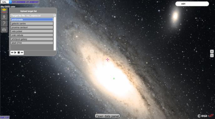 ESASky muestra el cielo tal y como lo observan las distintas misiones científicas de la ESA / ESA