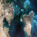 Colores del Golfo de Persia, fotografía tomada por el satélite Sentinel 2A, el 18 de septiembre de 2015
