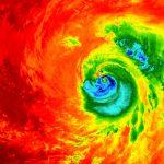 Ojo del huracán Matthew al acercarse a Florida- ESA