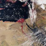 Rivera y delta del río Nilo, imagen del Sentinel 3, del 3 de marzo de 2016