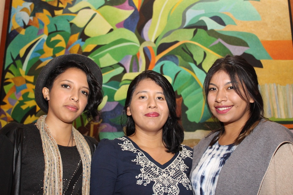 Etziba Yhorleini Álvarez Pérez, Soar Rebeca Vega Marín y Alma Nallely Marín González, creadoras de la plataforma Migración Retorno